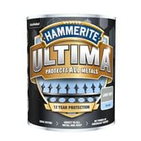 Hammerite Ultima Smooth Metal Paint - 750ml Light Grey